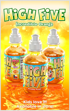 High Five Incredible Orange Kids Love it! Available in Store!